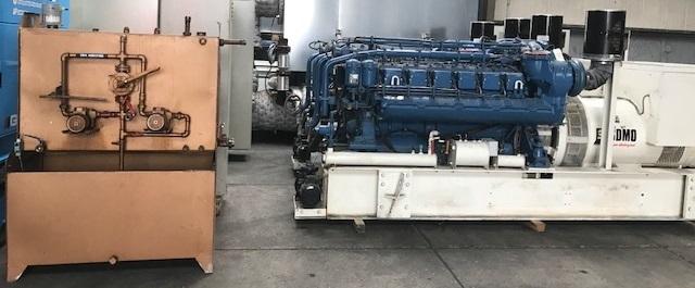 Dieselmotor MTU 12V396 & Generator Leroy Somer A50L8 1
