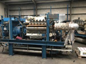 2 Stuks WKK Installatie -Gasmotor MAN E2842LE 302 & Generator Stamford HC534C - 2