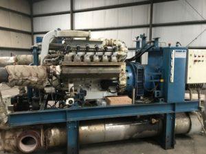 2 Stuks WKK Installatie -Gasmotor MAN E2842LE 302 & Generator Stamford HC534C - 1