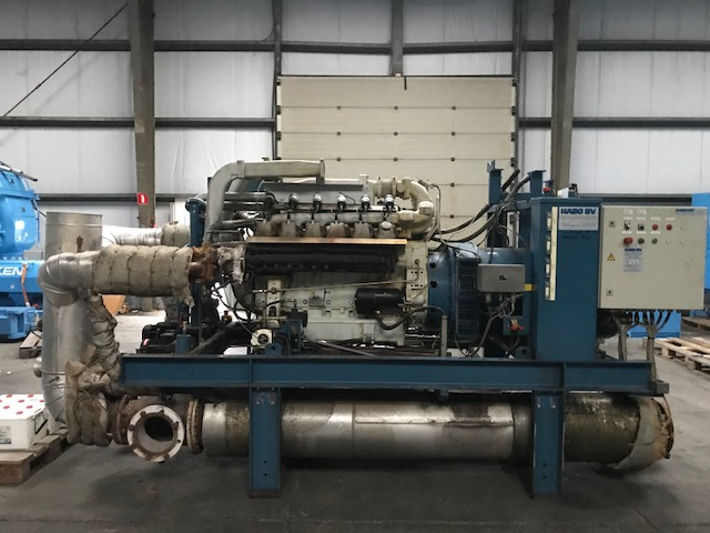 2 Stuks WKK Installatie -Gasmotor MAN E2842LE 302 & Generator Stamford HC534C